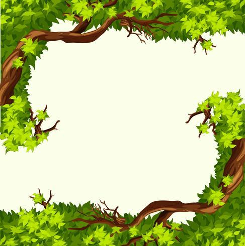 Ein Baumzweigrahmen vektor