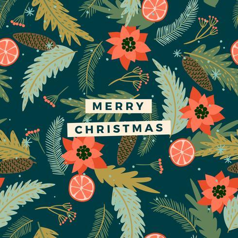 Jul och gott nytt år illustration. Trendig retrostil. vektor