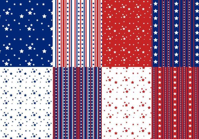 Sterne und Streifen Vektor Muster Pack