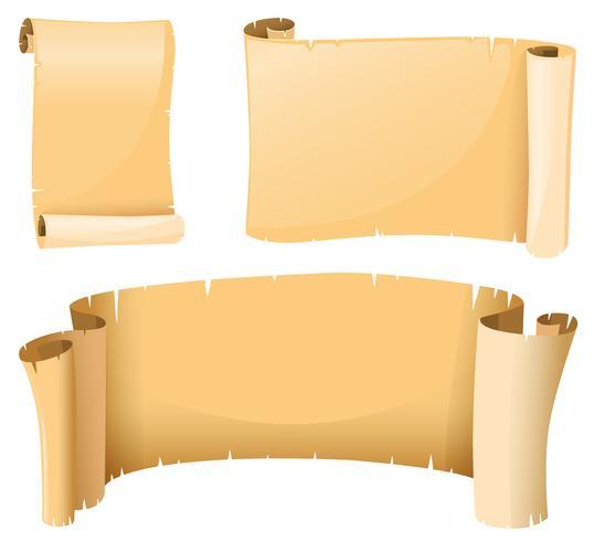 Pappersmall i medeltida stil vektor
