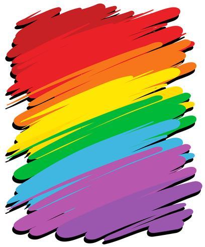 Hintergrunddesign mit Regenbogenfarbe vektor