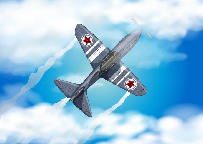 Army Air Force på den blå himlen vektor