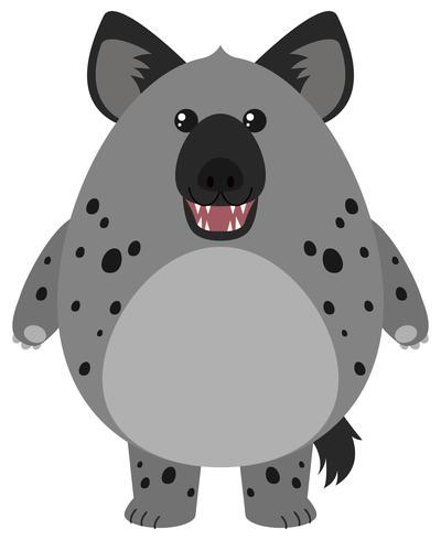 Hyäne mit rundem Körper vektor