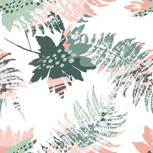 Abstraktes nahtloses Muster mit Blättern. vektor