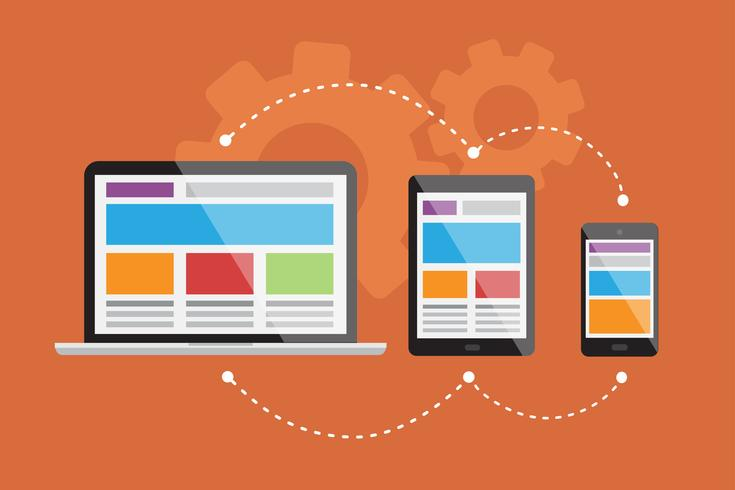 Responsiv webbdesign vektor