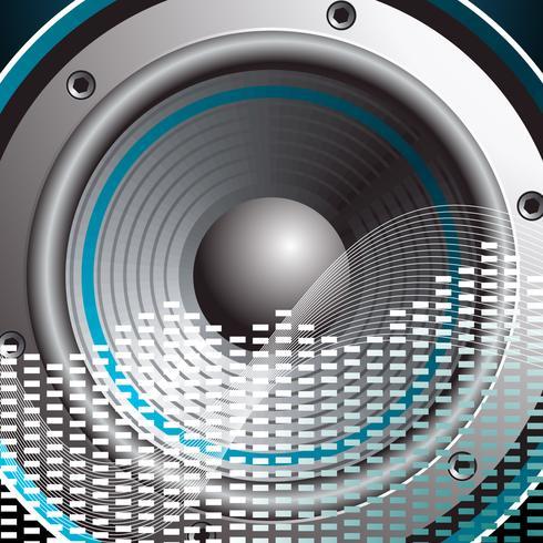 Vektorillustration für musikalisches Thema mit Sprecher vektor