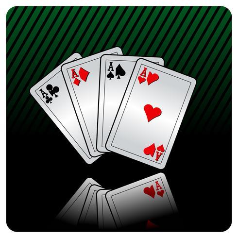 casino illustration med pokerkort vektor