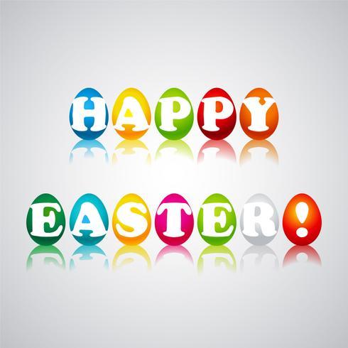 Vektor-glückliche Ostern-Illustration mit gemaltem Ei vektor