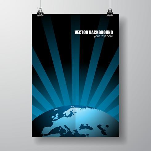 Vektor världskarta illustration