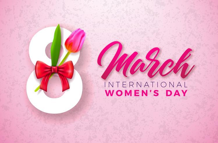 Frauen-Tagesgruß-Karte vektor