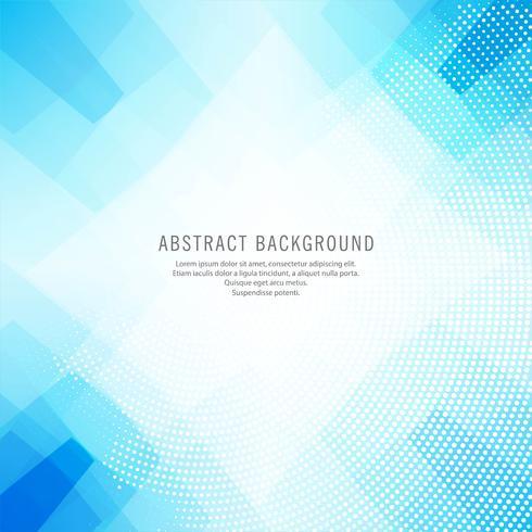 Abstrakt blå polygon bakgrund vektor