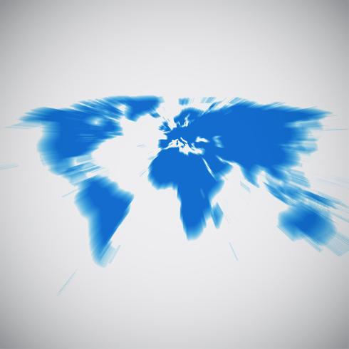 Världskarta med fokus på Europa, vektor illustration
