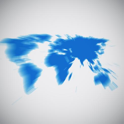 Världskarta med fokus på Asien, vektor illustration