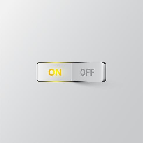 Realistischer Schalter (ON), Vektorillustration vektor