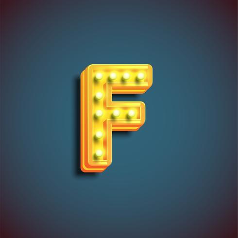 """""""Broadway"""" Charakter mit Lampen von einem fontset, vektorabbildung vektor"""