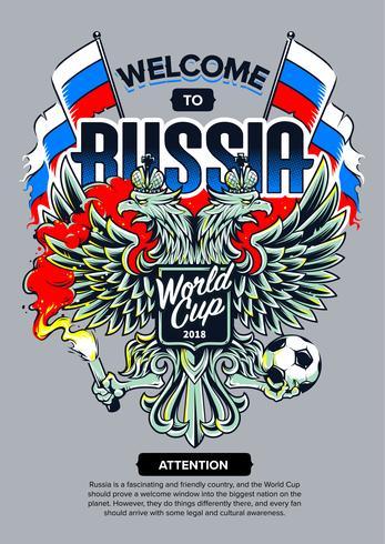 Willkommen in Russland Art vektor