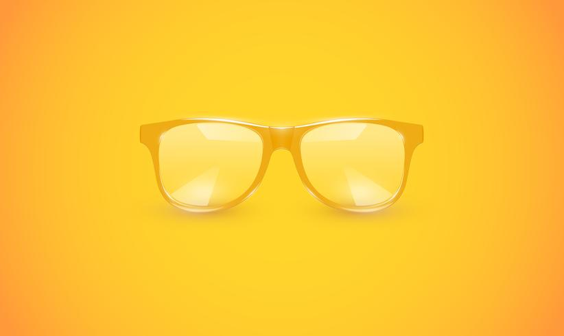 Hohe ausführliche Brillen auf buntem Hintergrund, Vektorillustration vektor