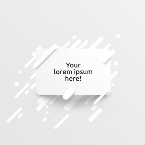 Dynamisk vit mall för reklam, vektor illustration
