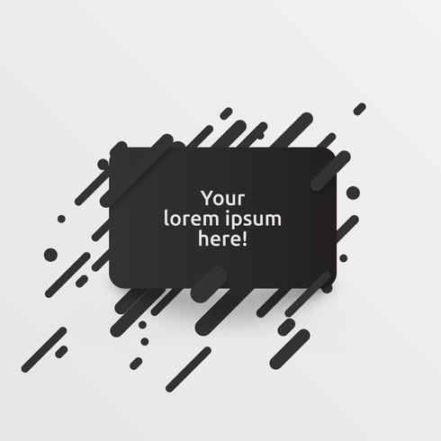 Dynamisk svart mall för reklam, vektor illustration