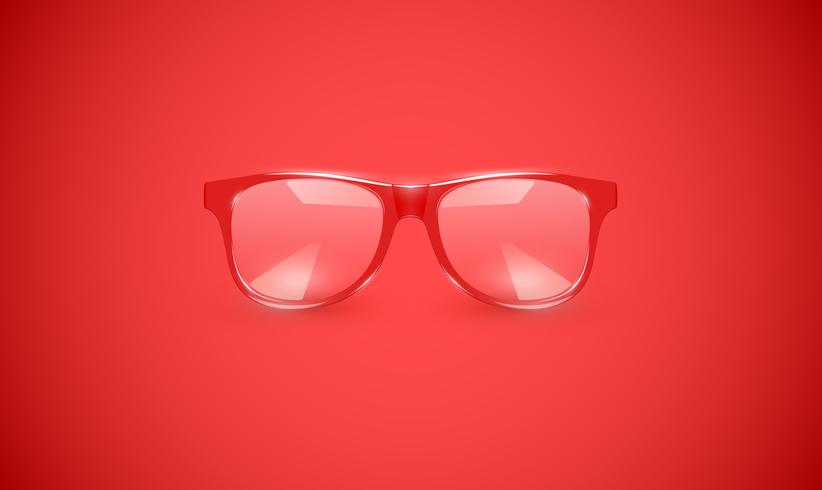Hög detaljerade glasögon på färgstark bakgrund, vektor illustration