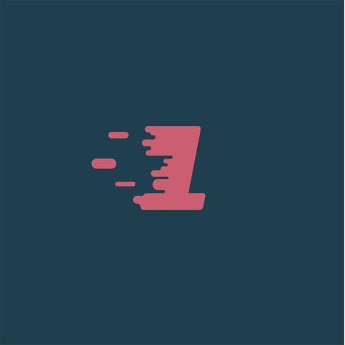 """""""Rush"""" Charakter aus einem Schriftsatz, Vektor-Illustration vektor"""