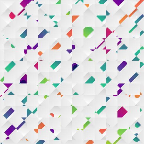 Bunter abstrakter Hintergrund mit Bällen und Linien für die Werbung, Vektorillustration vektor
