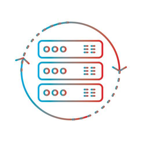Linie Steigungs-perfekter Ikonen-Vektor oder Pigtogram Illustration vektor