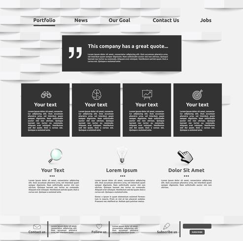 Moderne Websiteschablone für Geschäft, Vektorillustration vektor