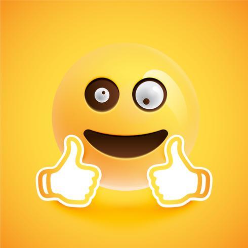 Emoticon mit den Daumen oben, vektorabbildung vektor