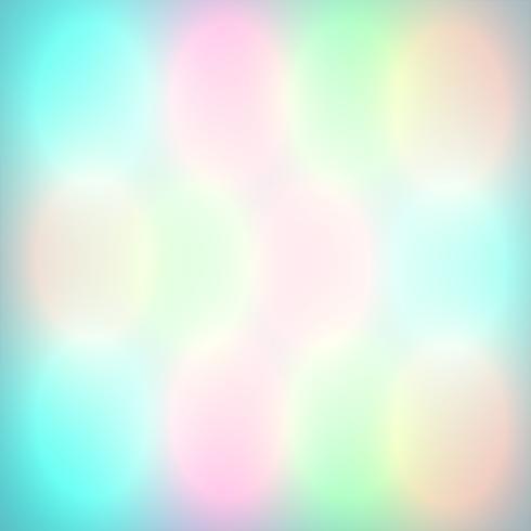 Färgglada bokeh lampor lyser, vektor illustration