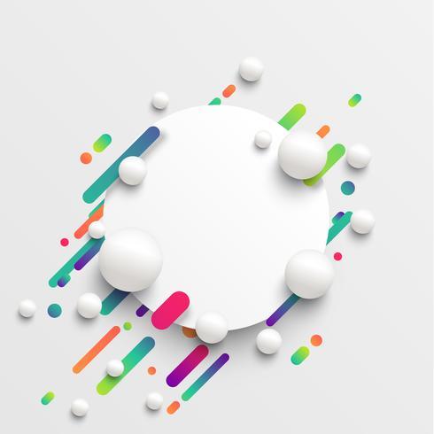 Dynamische und bunte Schablone für die Werbung, Vektorillustration vektor
