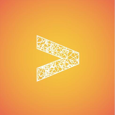 Netzschriftart aus einem Satz, Vektorschriftart vektor