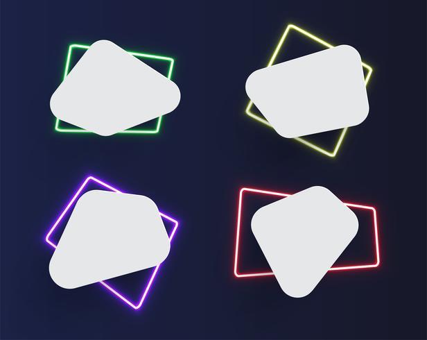 Hoch-ausführliche Neonschablone, vektorabbildung vektor