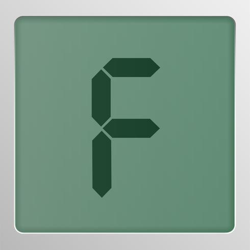 Digital-Zeichensatzschriftbild auf einem Schirm, Vektorillustration vektor