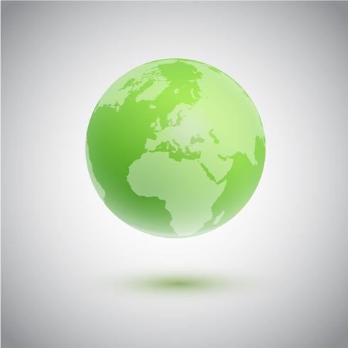 Grüne Kugel, vektorabbildung vektor