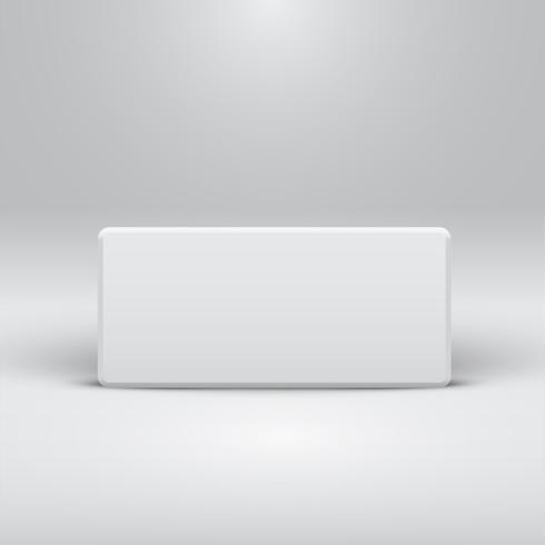Weiße Schablone für Website oder Produkte, realistische Vektorillustration vektor
