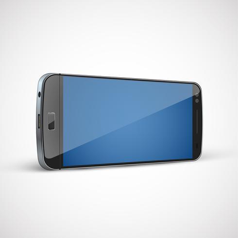 Realistisk, detaljerad mobiltelefon, vektor illustration