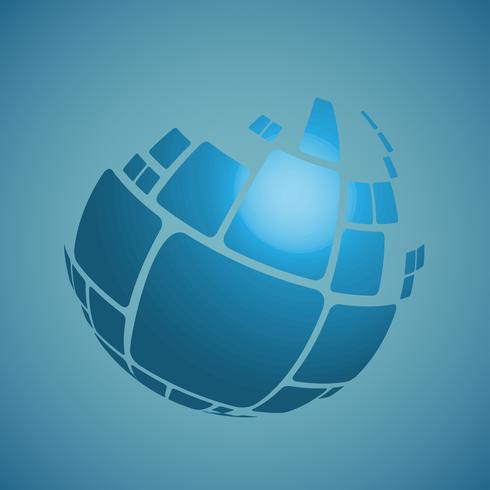 3D Globe vektor design illustration för reklam