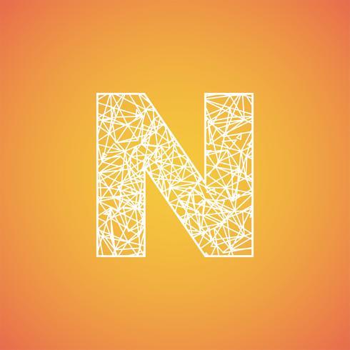 Netto teckensnitt från ett typsätt, vektorfont vektor