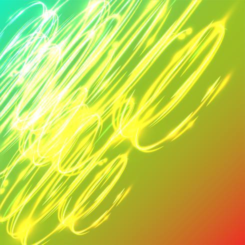 Undeutliche Kreise des Neons auf einem blauen Hintergrund, Vektorillustration. vektor