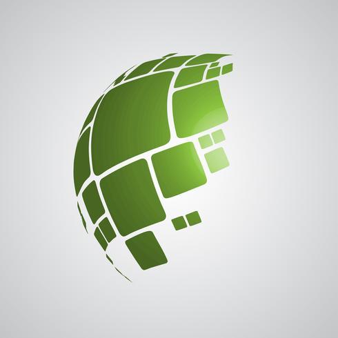 Designillustration des Vektors 3D der Kugel für die Werbung vektor