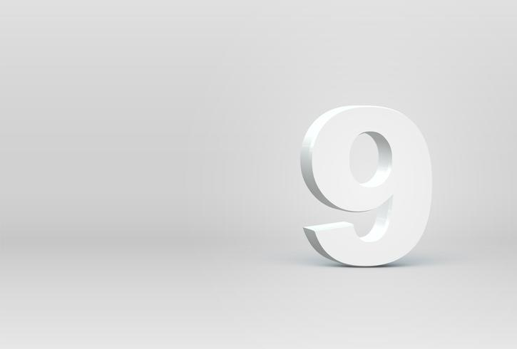Hög detaljerad 3D teckensnitt tecken, vektor illustration