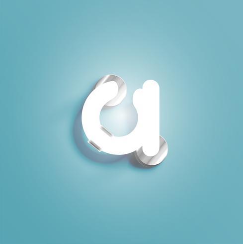 Realistischer Neoncharakter von einem fontset, vektorabbildung vektor