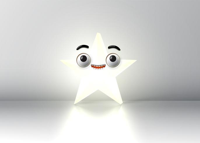 Hög detaljerad smiley stjärna, vektor illustration