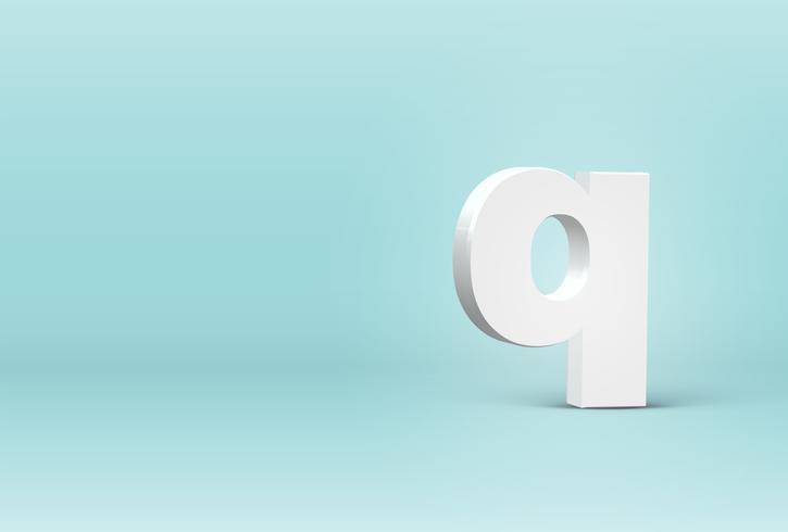 Hög detaljerad 3D typsnitt brev, vektor illustration