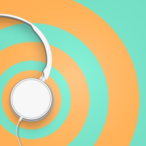 Realistiska 3D uppdelade pastellfärgade hörlurar med ledningar vektor