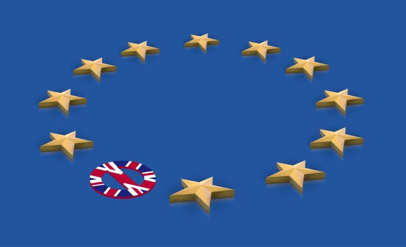 Illustration für BREXIT - Großbritannien verlässt die EU, Vektor