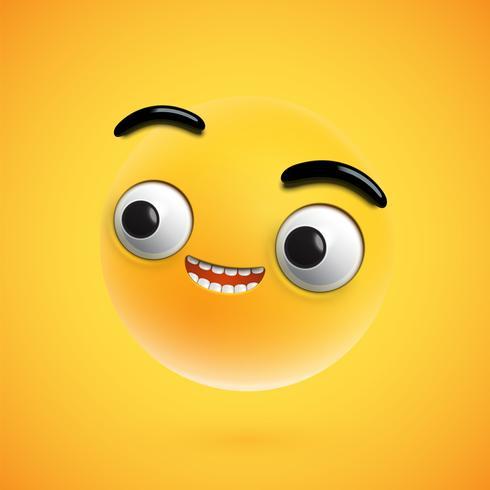 In hohem Grade ausführlicher glücklicher Emoticon, Vektorillustration vektor