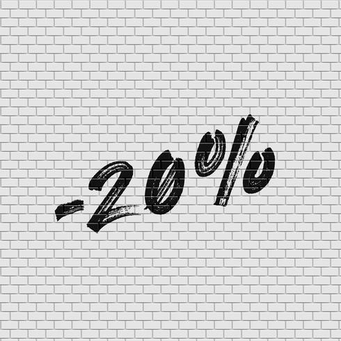 Hohe ausführliche Backsteinmauer mit Prozentsatz, Vektorillustration vektor