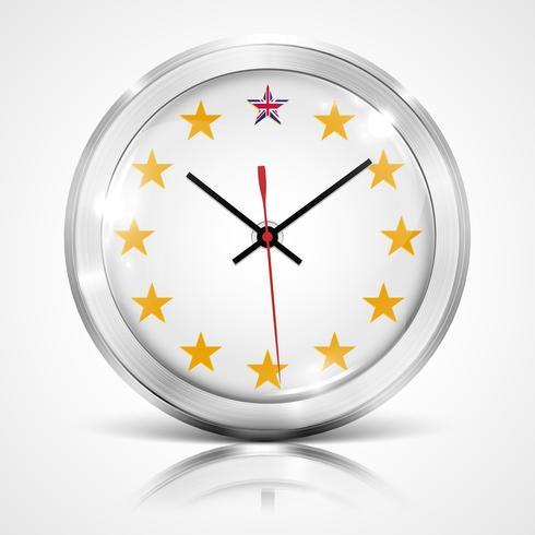 Illustration mit Uhr für BREXIT - Großbritannien verlässt die EU, Vektor